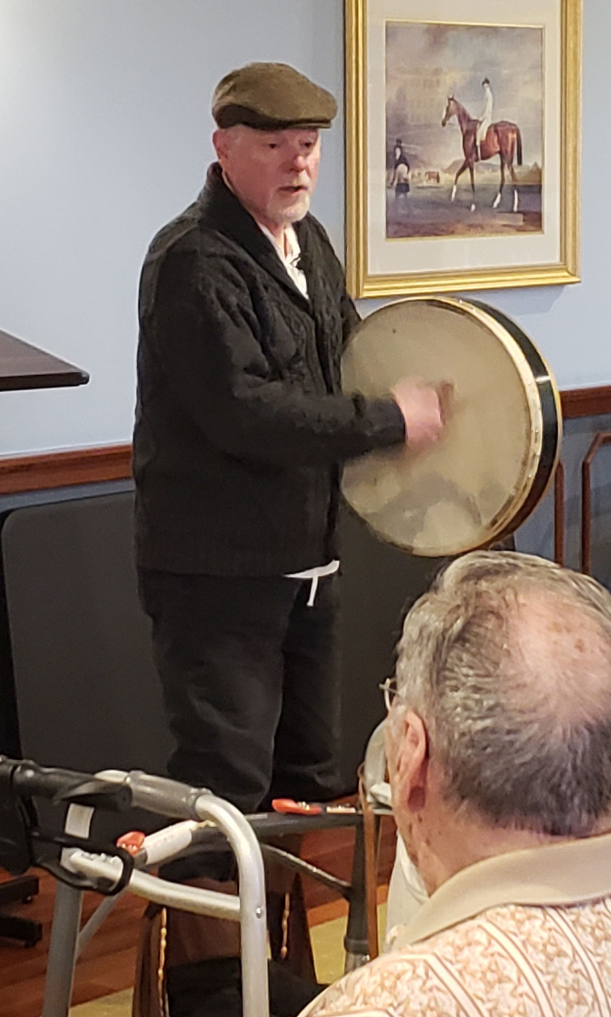 playing bodhran
